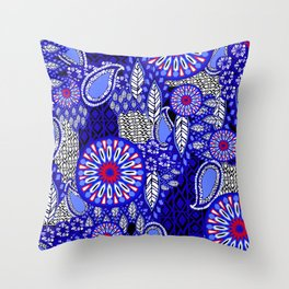 Tribal Patchwork Throw Pillow