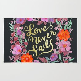 Love Never Fails -  1 Corinthians 13:8 Rug
