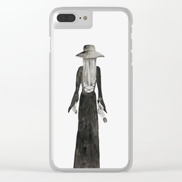 """Southern Gothic Witch Coven Watercolor; """"Rite"""" Clear iPhone Case"""
