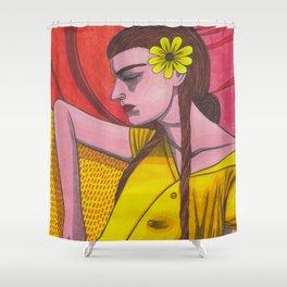 Forsythia Levolor Shower Curtain