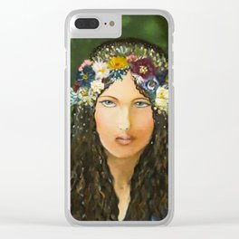 Lady Spring Clear iPhone Case