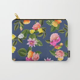 Frida Floral (Blue) Carry-All Pouch