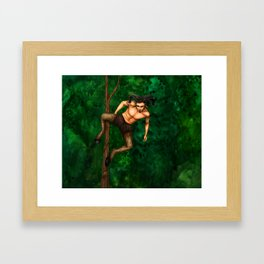 Pole Creatures - Faun Framed Art Print