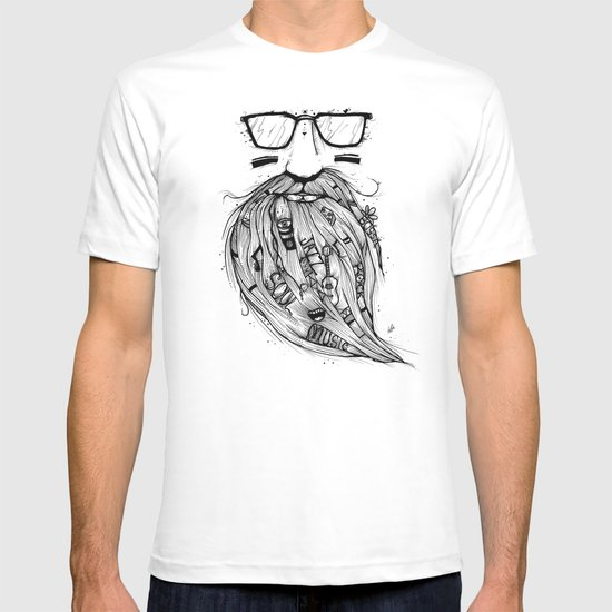 Beard Me Some Music (Black & White) T-shirt