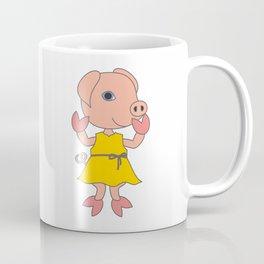 Little Pig in yellow dress. Coffee Mug