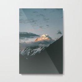 The majestic Aoraki / Mt Cook at dusk Metal Print
