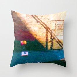 Venetian Gondola Throw Pillow