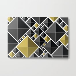Black and Gold Metal Print