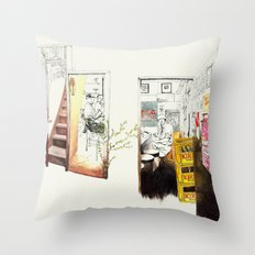 Tuesday Night Doors Throw Pillow