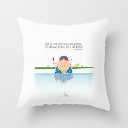 Tifanny - Swimmer Throw Pillow