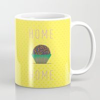 home sweet home Mugs featuring HOME by Analu Louise