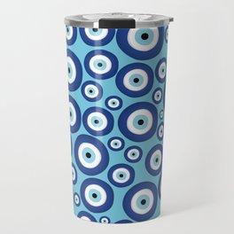 Greek Mati Mataki - Matiasma Evil Eye Pattern #2 Travel Mug