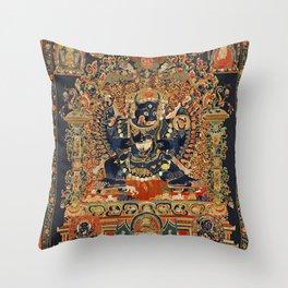 Tantric Buddhist Vajrabhairava Deity 2 Throw Pillow