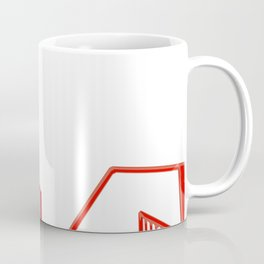 Red geo abstract paint lines   Coffee Mug