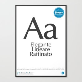 Classificazione: Lineari Umanistici Canvas Print