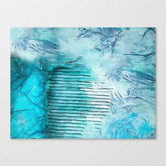 ABSTRACT AQUA COLOURS Canvas Print