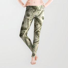 100 dollar bills Leggings