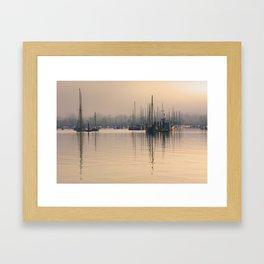 Tall Masts at Sunrise Framed Art Print