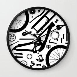 Downhill Bike Parts Wall Clock