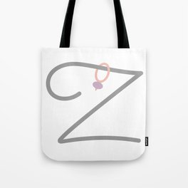 Z Initial with Stitch Marker Tote Bag