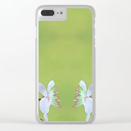 let's talk: sorbet on lime Clear iPhone Case