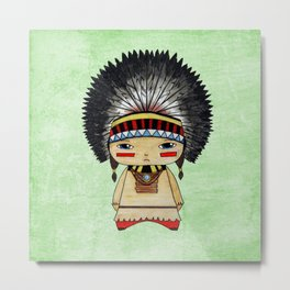 A Boy - American indian Metal Print