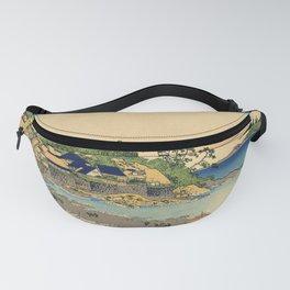 Katsushika Hokusai - 36 Views of Mount Fuji (1832) - 17: Enoshima in Sagami Province Fanny Pack