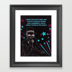 Your Song Framed Art Print