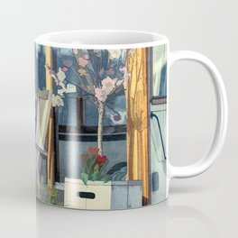 On this houseboat you´re sitting in the first row Coffee Mug