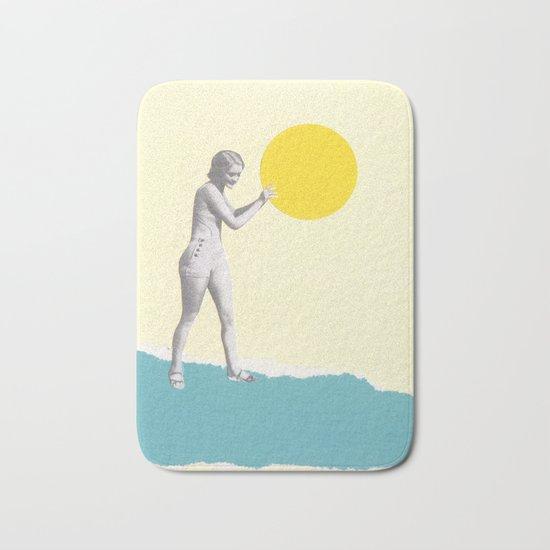 She Caught the Sun Bath Mat