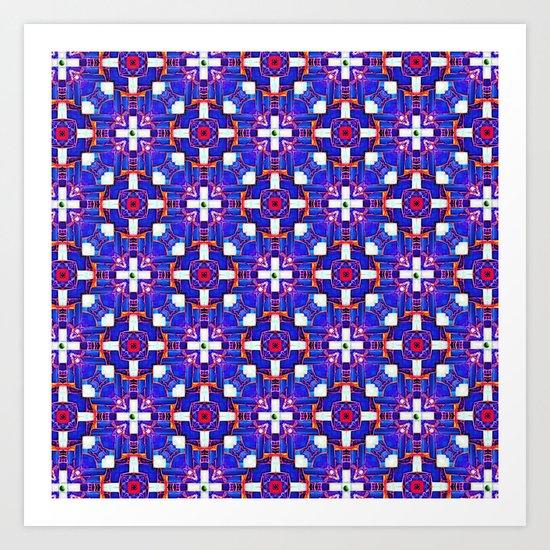 Cobalt Intersect Art Print