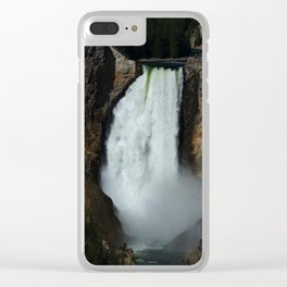Yellowstone River Falls Clear iPhone Case