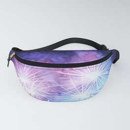 Blue and pink fireworks Fanny Pack