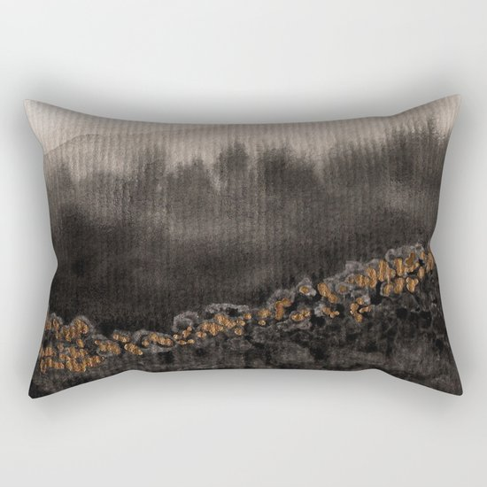 Watercolor abstract landscape 24 Rectangular Pillow