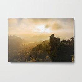 Elbe Sandstone Mountains Metal Print