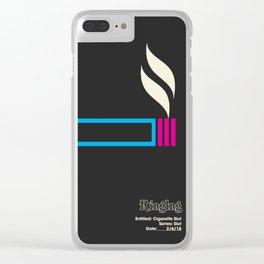 Cigarette Slut Clear iPhone Case