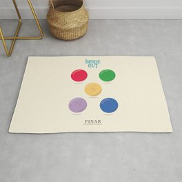 Inside Out - Minimal Movie Poster, animated movie, Rug