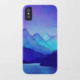 Cerulean Blue Mountains iPhone Case