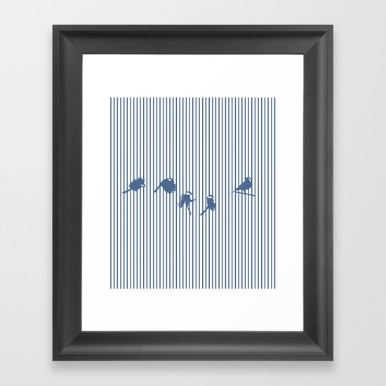 Hidden cage Framed Art Print