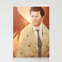 castiel Stationery Cards featuring Castiel by Vaahlkult