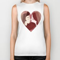 lovers Biker Tanks featuring Lovers by Pendientera