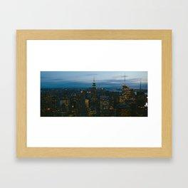 Manhattan is Never Dark Framed Art Print