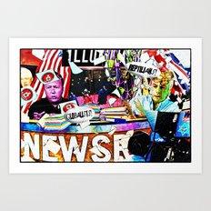 Newsroom Art Print