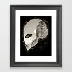 Alien´s Head Framed Art Print