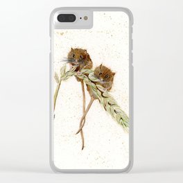 Two Mice - animal watercolor painting Clear iPhone Case