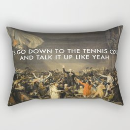 Tennis Court Oath Rectangular Pillow