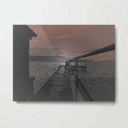 Lake Jetty Metal Print