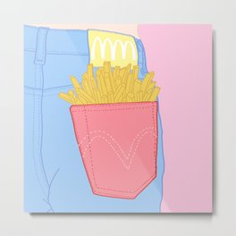 FRENCH FRIES TO-GO Metal Print