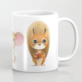 Hedghog, Mouse & Mr. Squirrel Coffee Mug
