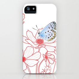 Cosmos and Butterfly iPhone Case